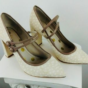 Boden calf hair Mary Janes